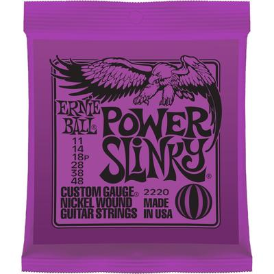 Ernie Ball Power Slinky 011-048 nickel wound electric guitar strings