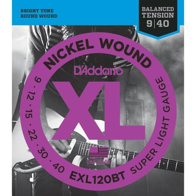 D'Addario EXL120BT 009-040 Nickel Wound Super Light Gauge electric guitar strings