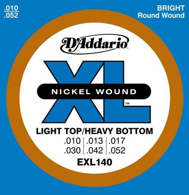 D'Addario EXL140 010-052 Light Top/Heavy Bottom electric guitar strings