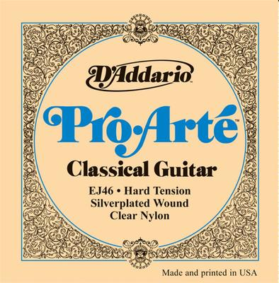 D'Addario Pro-Arté EJ46 0285-044 Clear Nylon Hard Tension classical guitar strings