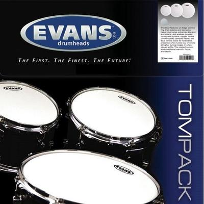 "Evans Black Chrome Standard Pack 12""+13""+16"" trommeskind"