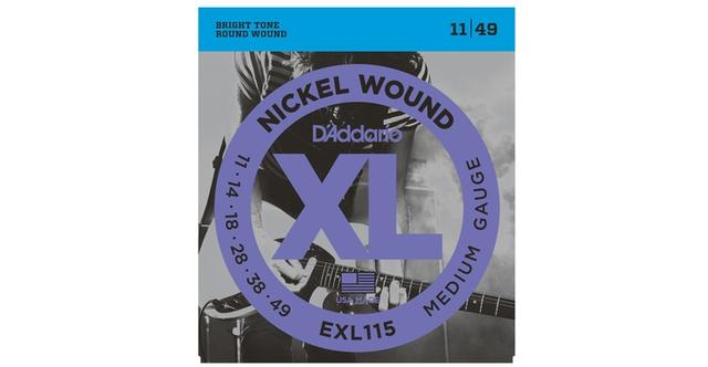 D'Addario EXL115 011-049 Nickel Wound Medium Gauge electric guitar strings