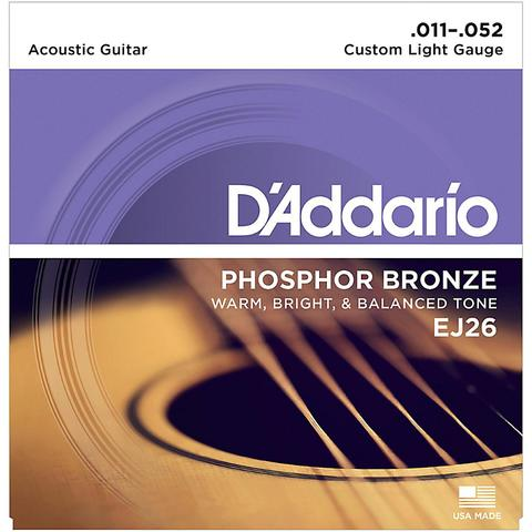 D'Addario EJ26 011-052 Phosphor Bronze Custom Light Gauge acoustic guitar strings
