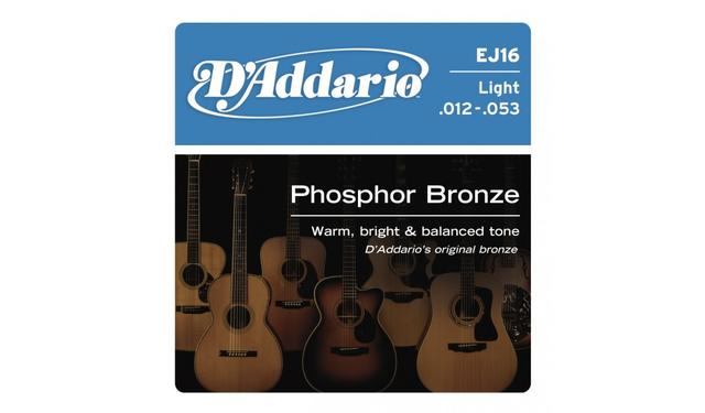 D'Addario EJ16 012-053 Phosphor Bronze Light acoustic guitar strings