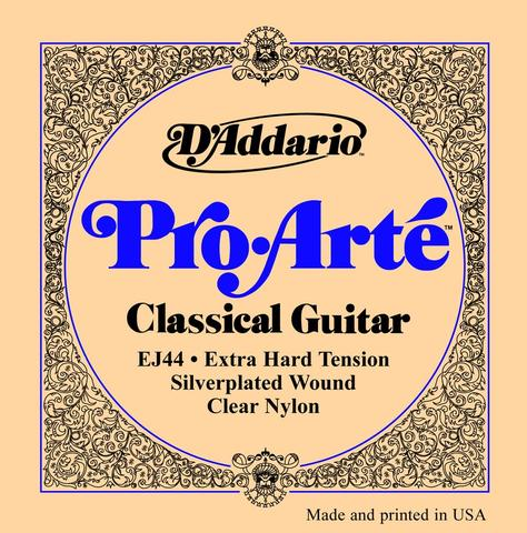 D'Addario Pro-Arté EJ44 0290-045 Clear Nylon Extra Hard Tension classical guitar strings