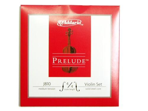 D'Addario J810 Prelude 4/4 Medium Tension violin strings