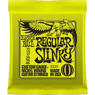 Ernie Ball Regular Slinky 010-046 nickel wound electric guitar strings