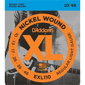 D'Addario EXL110 010-046 Nickel Wound Regular Light Gauge electric guitar strings