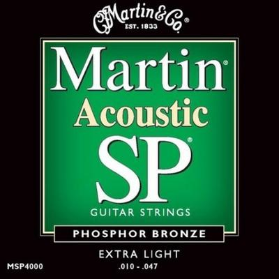 Martin Acoustic SP 010-047 Phosphor Bronze Extra Light guitar strings