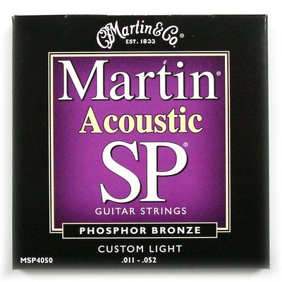 Martin Acoustic SP 011-052 Phosphor Bronze Custom Light guitar strings