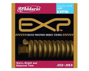 D'Addario EXP16 012-053 Coated Phosphor Bronze Light acoustic guitar strings