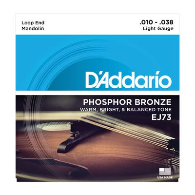 D'Addario EJ73 010-038 Phosphor Bronze Light Gauge mandolin strings