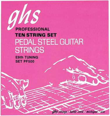 GHS PF500 Pedal Steel Guitar Strings - Ten String Set E9th tuning