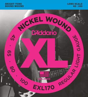 D'Addario EXL170 045-100 Nickel Wound Regular Light Gauge bass strings