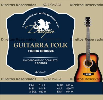 Novagi Guitarra Folk Fieira Bronze 011-044 western strings