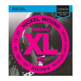 D'Addario EXL170-5 Regular Light Gauge 5-strenget 045-130
